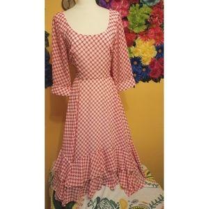 eShakti ruffle long sleeve dress- size Large/14